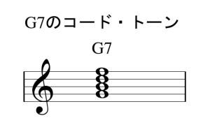 G7のコードトーン